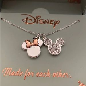 Fine SILVER PLATED Disney Necklace(OS)